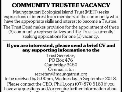 Community Trustee Vacancy