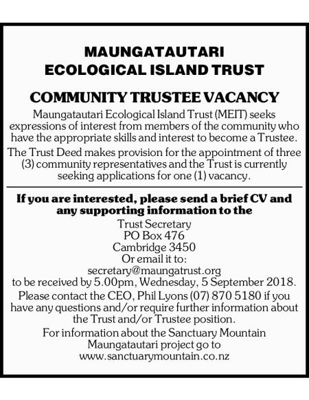 Community Trustee Vacancy