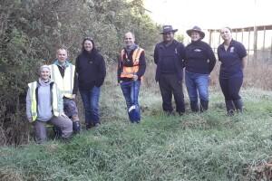 Water sampling testing at Maungatautari